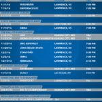 KU Printable Schedule 2016-17